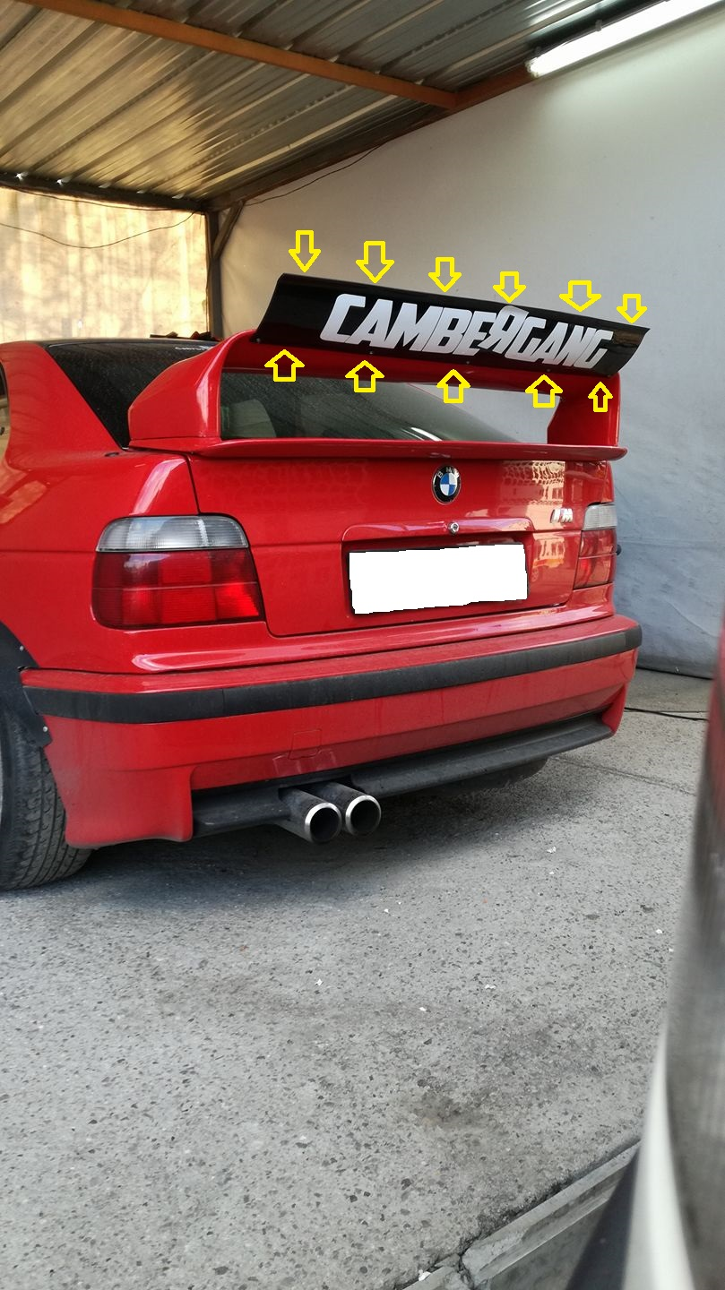 bmw e36 dtm style flap for ltw gt spoiler universal. Black Bedroom Furniture Sets. Home Design Ideas